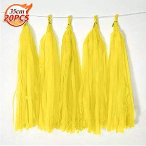 Bining Yellow Tassel Garland