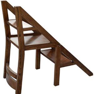 1058 Wood Step Stool Ladder Chair