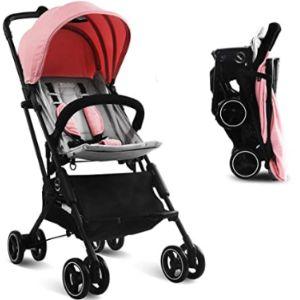 Kidsclub Pink Lightweight Stroller
