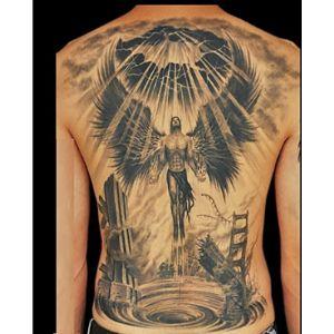 Initiative Letter Design Angel Tattoo