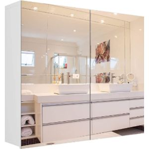 Homfa Bath Cabinet Mirror