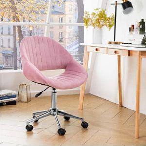 Ovios Velvet Rolling Chair