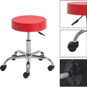 Ikon Motorsports Red Stool Chair