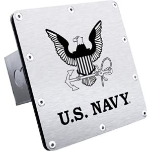 Au-Tomotive Gold Navy Trailer Hitch Cover