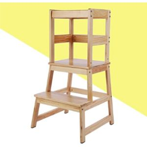 Katarus Wood Step Stool Ladder Chair