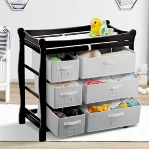 Kealive Oak Baby Changing Table