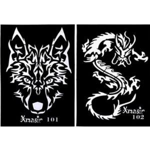 Lurrose Dragon Tattoo Template