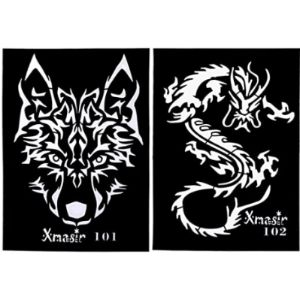 Lurrose Dragon Tattoo Stencil