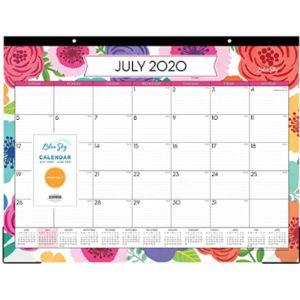 Blue Sky Cute Desk Pad Calendar