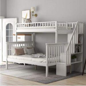 Harper & Bright Designs Dorm Bunk Bed Ladder