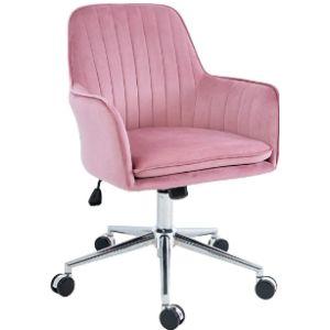 Five Stars Furniture Velvet Rolling Chair