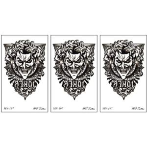 Parita Waterproof Tattoos Joker Tattoo Design