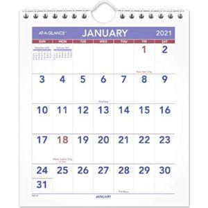 Ataglance Mini Calendar Size