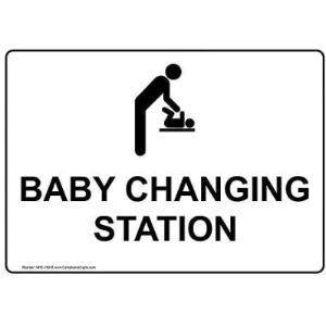 Acove Baby Changing Station Sign