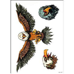 Gs912 Temporary Tattoos Upper Back Tattoo Design