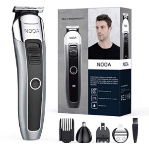 Visit The Nooa Store Mens Rechargeable Beard Trimmer