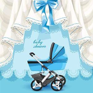 Aofoto Baby Carriage Cartoon