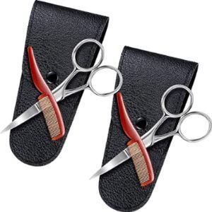 Visit The Mudder Store Mustache Scissors Comb Set