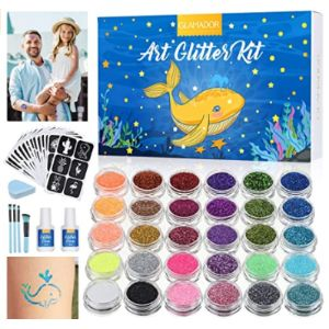 Glamador Glitter Temporary Tattoo Party Kit