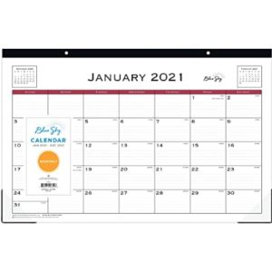 Blue Sky Large Desk Blotter Calendar