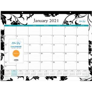 Blue Sky December Desktop Calendar