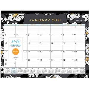 Blue Sky Chic Desk Blotter Calendar