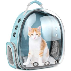 Ssawcasa Cat Backpack Carrier Bubble