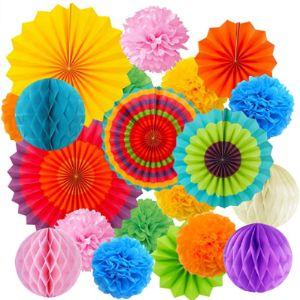 Hqdeal Tissue Paper Fan