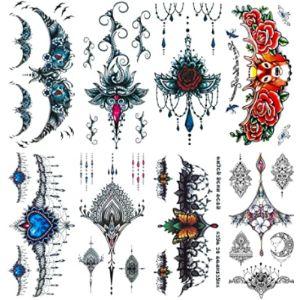 Leoars Chest Henna Tattoo