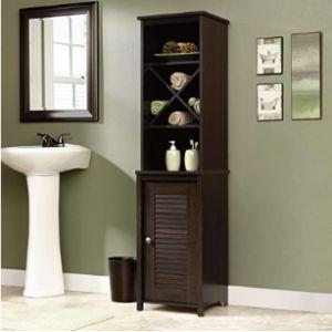 Sauder Corner Bathroom Towel Cabinet