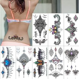 Awlee Chest Henna Tattoo