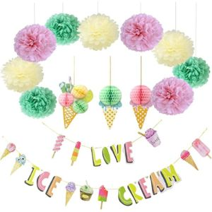 Pink Forest Ice Cream Tissue Paper