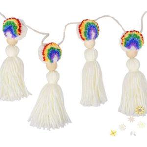 Drcor Dreaming Decor Rainbow Tassel Garland