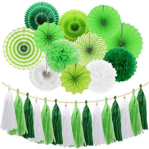 Meiduo Green Tassel Garland