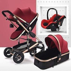 Lqryjdz Gold Baby Stroller