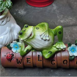 Bjlwtq Statue Lady Flower Frog