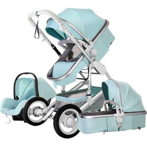 Heay Baby Stroller With Toddler Stand