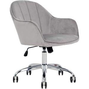 Fcquality Velvet Rolling Chair