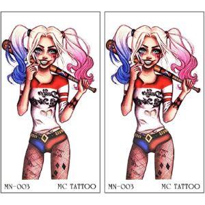 Gs912 Temporary Tattoos Joker Tattoo Design