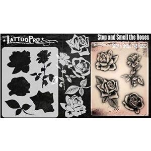 Tattoo Pro Stencils Rose Tattoo Template