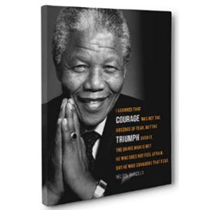 Paper Blast Nelson Mandela Quote Courage