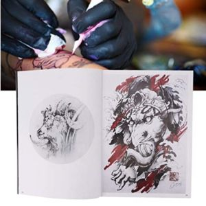 Pangding Tiger Tattoo Template