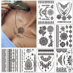 N/D Neck Henna Tattoo