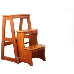 Suge Wood Step Stool Ladder Chair