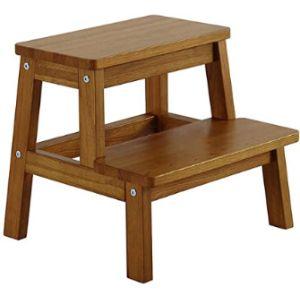 Yevison Wood Step Stool Ladder Chair