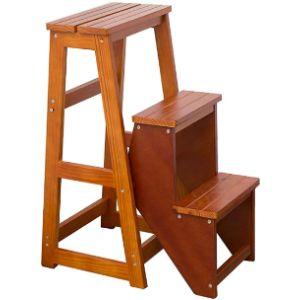 Zhz-Dt Wood Step Stool Ladder Chair
