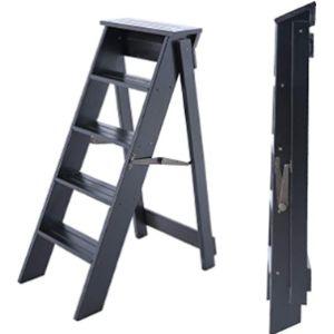 Ljwj Wood Step Stool Ladder Chair