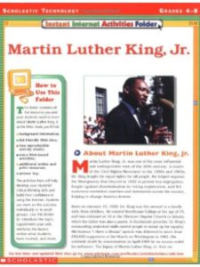 Teaching Resources activity  martin luther kings