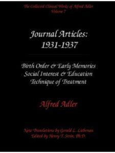 Alfred Adler Institute article  social works