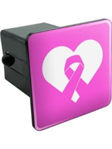 Graphics and More breast cancer  trailer hitch cover
